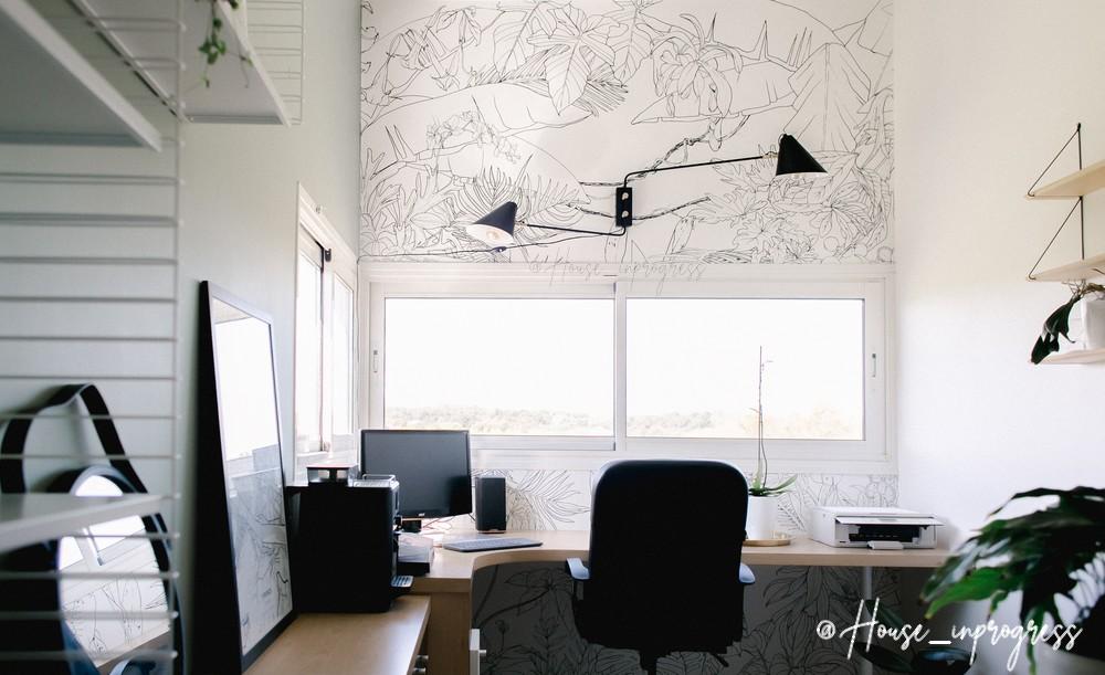 tapisserie-panoramique-jungle-noir-blanc